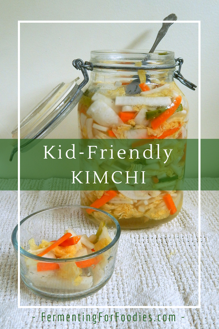 Simple vegetarian kimchi - fresh and sweet for children