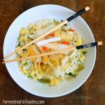 Kimchi Fried Rice - Simple, delicious, probiotic and vegetarian
