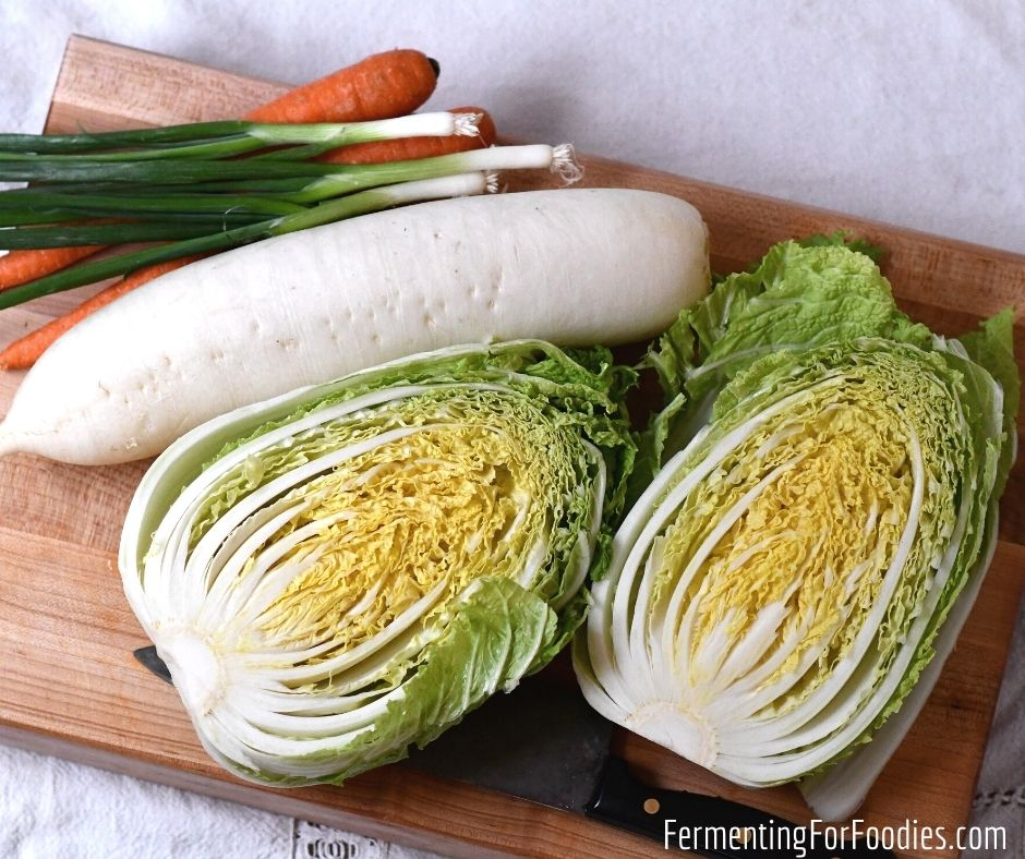 Healthy homemade vegetarian kimchi. An easy ferment for beginners