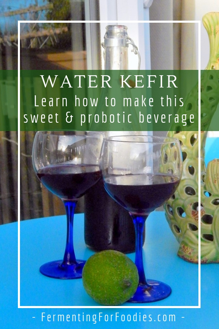Water kefir - a sweet and sparkling probiotic beverage, caffeine free