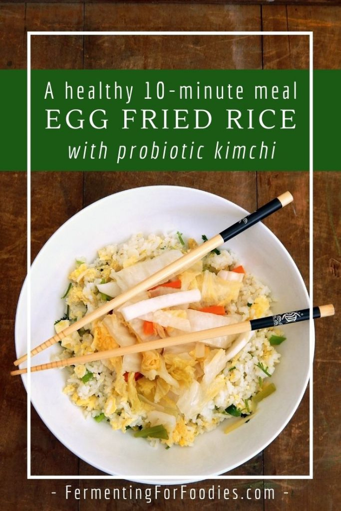 Kimchi fried rice is a quick and healthy meal, perfect for busy weeknights