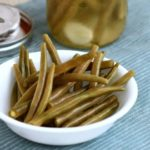 How to serve homemade green bean pickles