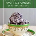 How to make honey and yogurt fruit ice cream for a healthy treat