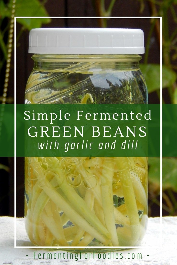 Simple fermented green bean pickles for a probiotic snack