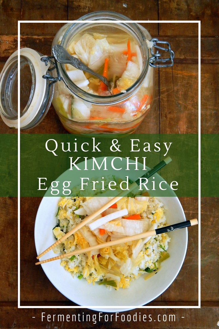 Kimchi Fried Rice - Healthy food in less than 30 minutes