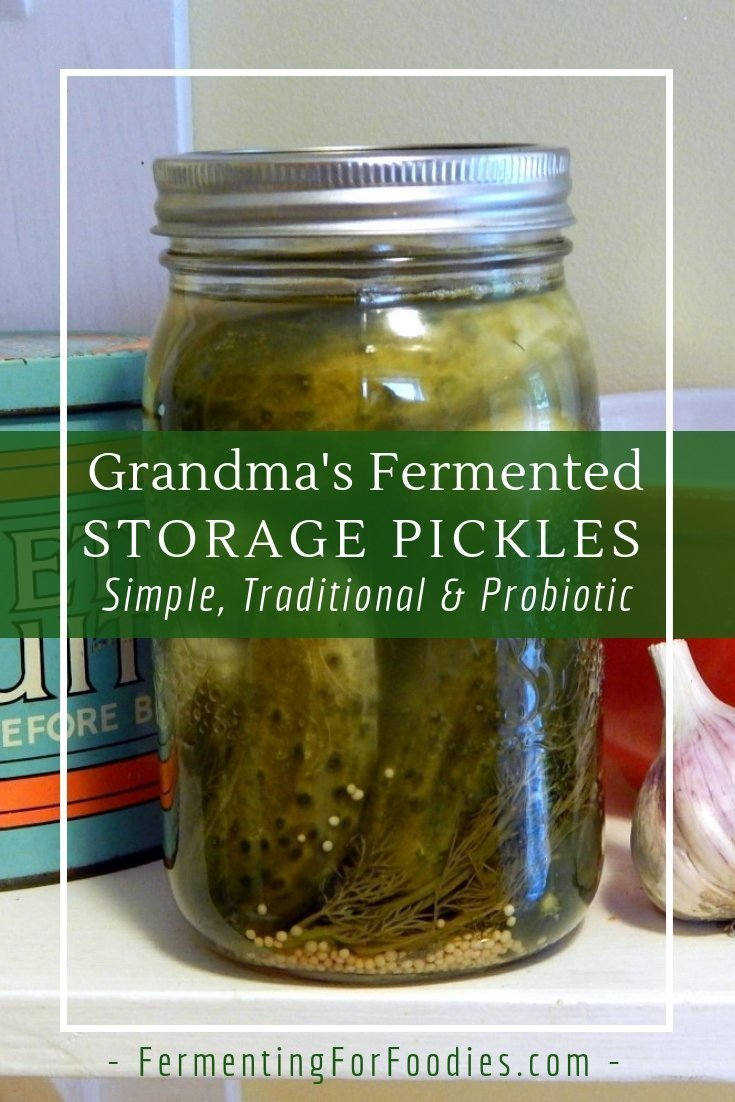Traditional recipe for storing fermented pickles