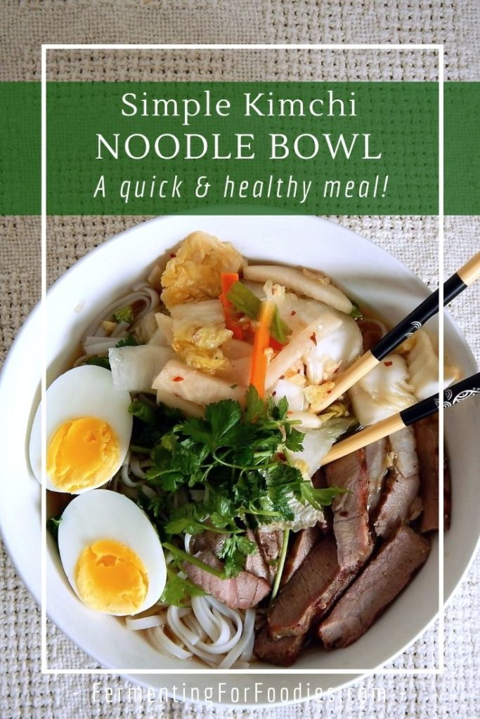 How to make a healthy and delicious kimchi noodle bowl.