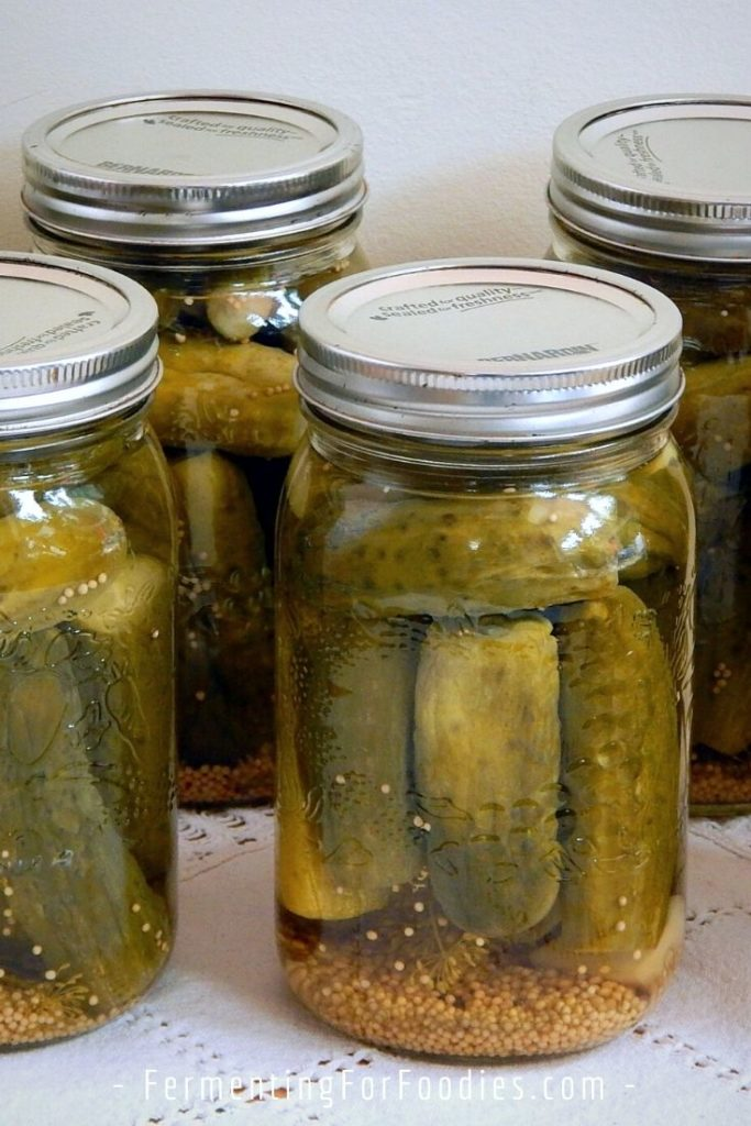 Canning fermented pickles for long term storage