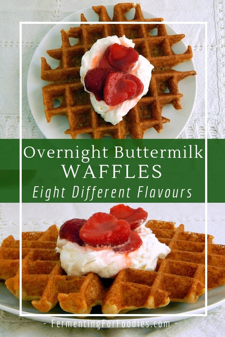 Gluten free overnight buttermilk waffles with oat flour.