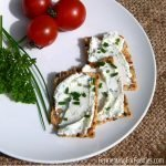 Homemade boursin cheese from kefir cheese or yogurt cheese for an affordable and probiotic appetizer