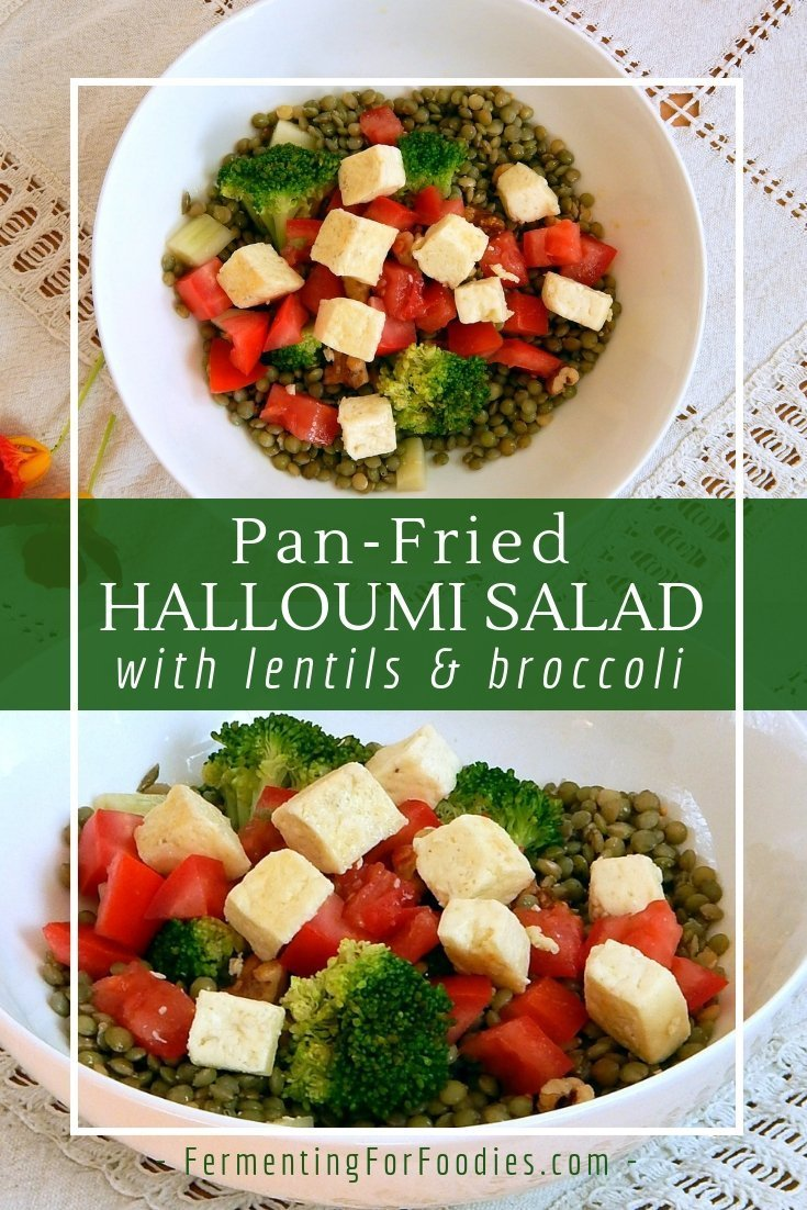 Simple and easy halloumi salad for a quick meal