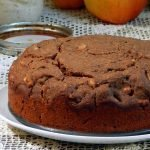 Healthy apple cake with buttermilk