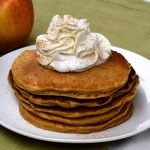 Healthy and delicious oatmeal pumpkin pancakes