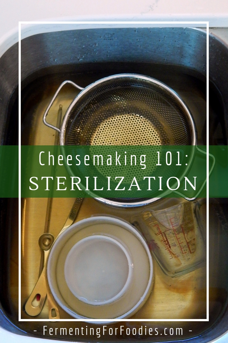Sterilization for cheesemaking - culturing success