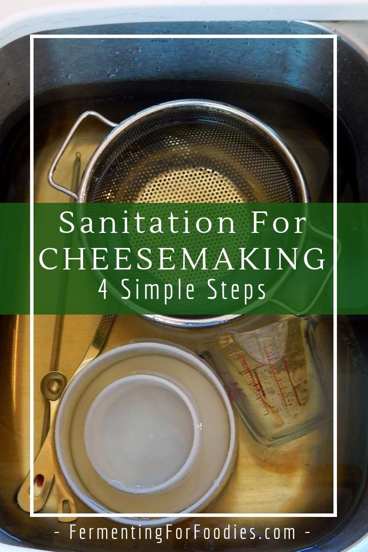 How to sanitize for cheesemaking and prevent contamination