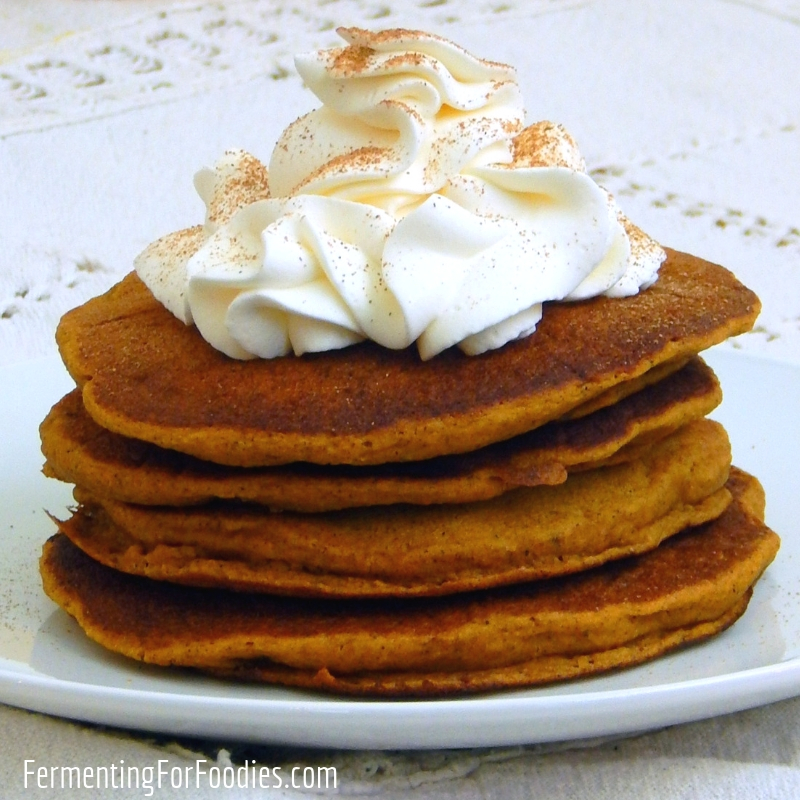 Healthy Pumpkin Pancakes - Buttermilk cultured, wholegrain and sugar-free