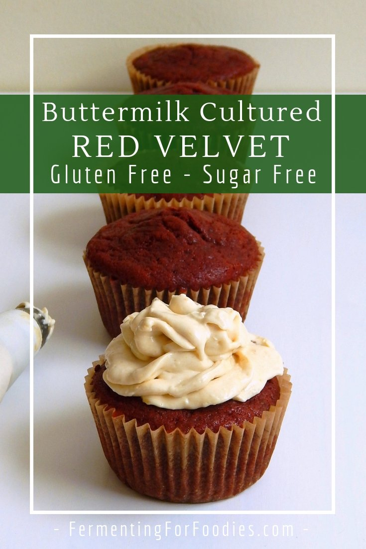 Traditonal red velvet cupcakes made with buttermilk, cocoa and beets for colour