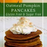 Date sweetened oatmeal pumpkin pancakes are a healthy and delicious breakfast