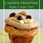 Date sweetened cashew frosting is a healthy treat.