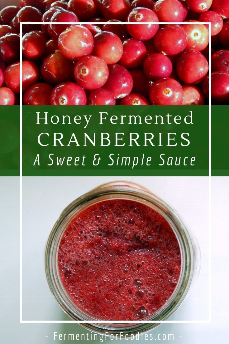 Fermented cranberry sauce is probiotic and very simple and easy to make. No cooking!