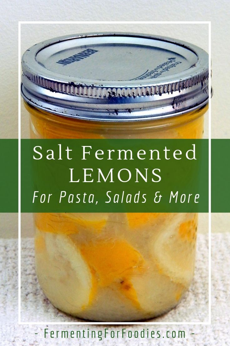 How to make fermented lemons with just salt. Easy, probiotic, health and delicious