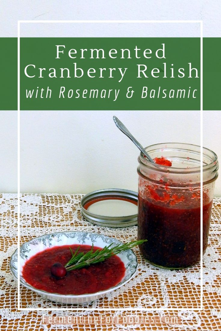 Fermented cranberry relish can be sugar free - perfect for Christmas or Thanksgiving