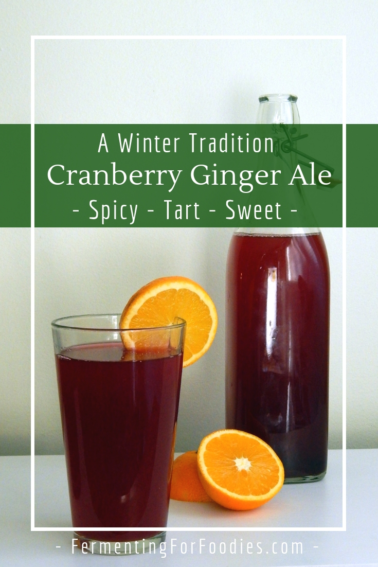 Homemade cranberry ginger ale - Sparkling, sour, spicy and sweet
