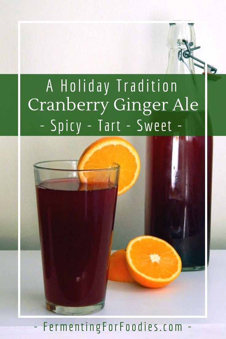Homemade cranberry ginger ale is a holiday tradition in Canada
