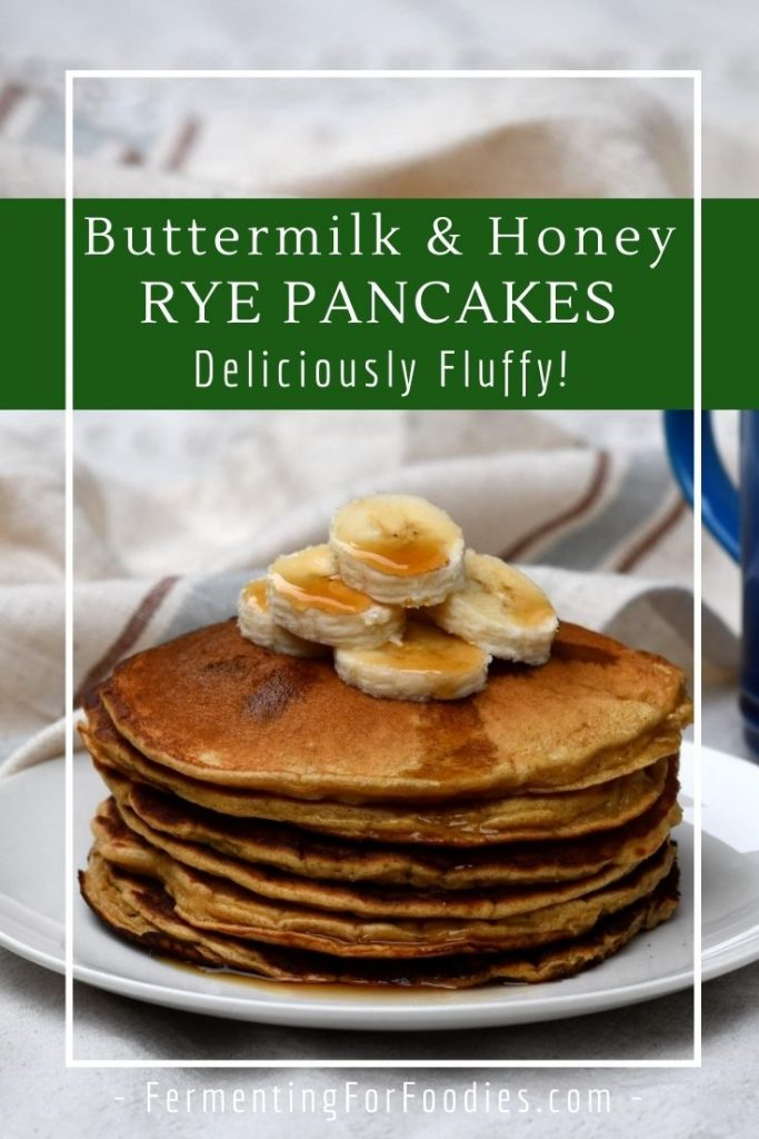 How to make fluffy pancakes with rye, barley or oat flour.
