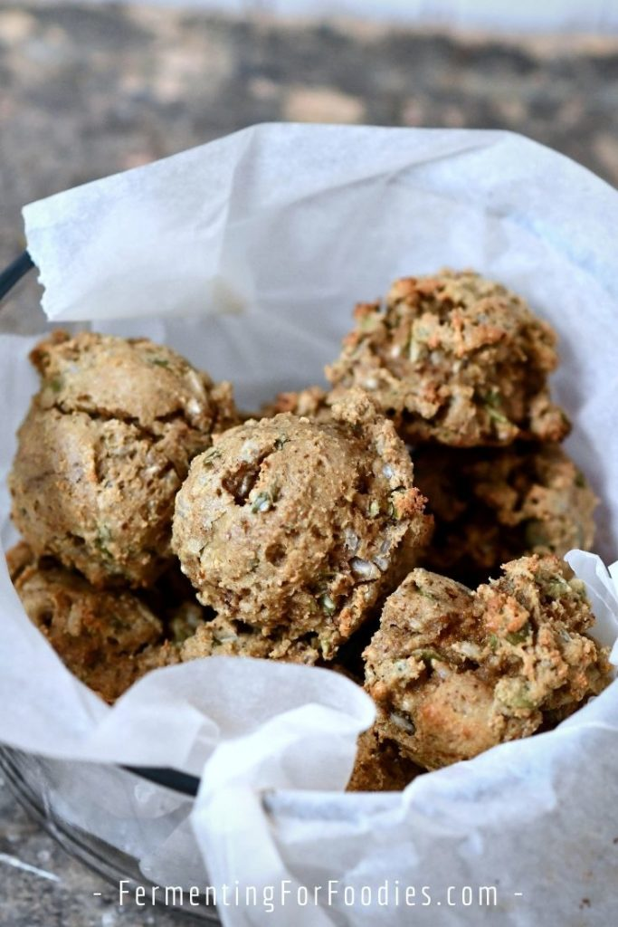 Gluten-free breakfast cookies with oatmeal, cream cheese and raisins