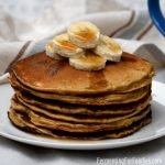 Light and fluffy whole grain rye pancakes.