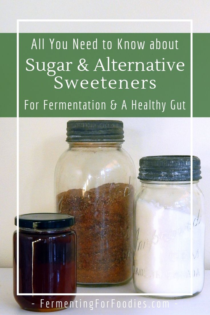 The impact of sugar and other types of sweeteners for fermenting and gut health