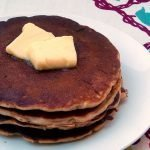 Buttermilk honey rye pancakes are a wholesome breakfast