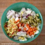 Prebiotic and probiotic potato salad for gut-health