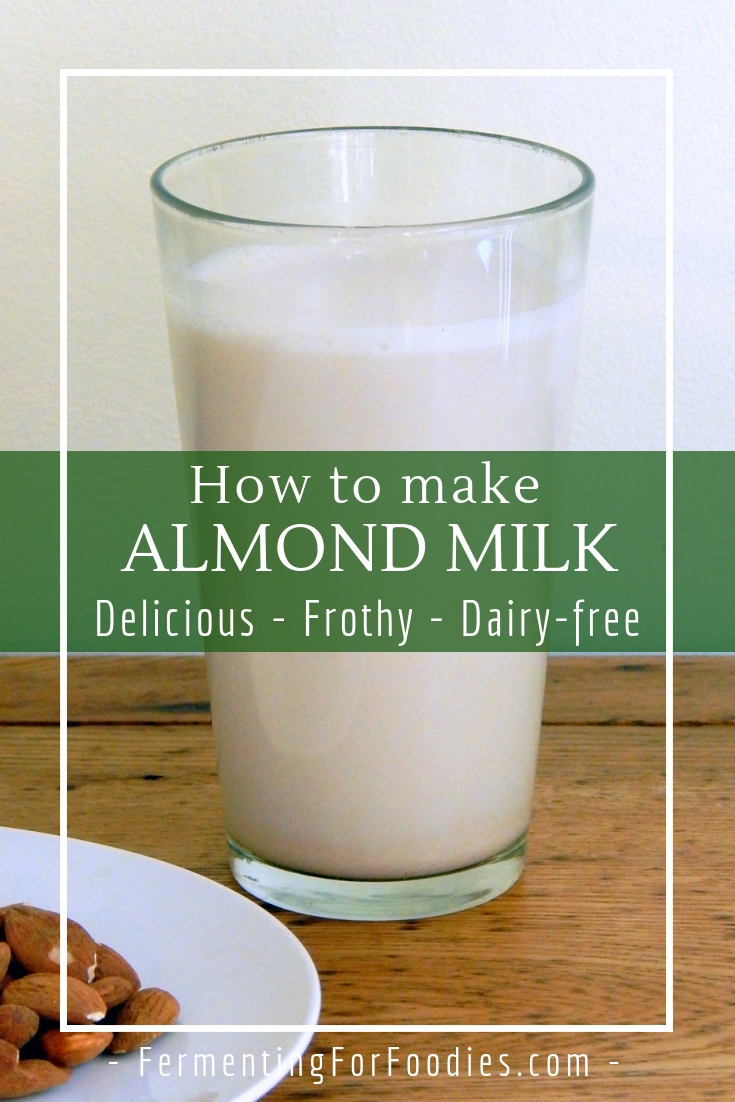 Easy homemade almond milk for a delicious dairy-free alternative. It's vegan and Paleo.