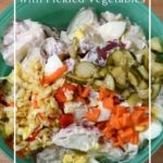 How to add fermented vegetables to a potato salad