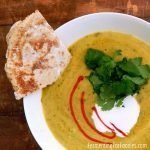 Curried split pea soup is a quick and delicious one pot meal