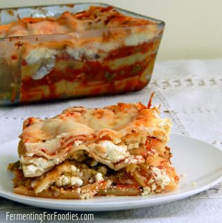 Broccoli and cauliflower lasagna - gluten free, vegetarian