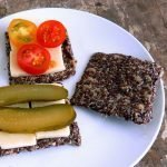 Raw and fermented flax seed crackers are probiotic, high in fiber and healthy fats
