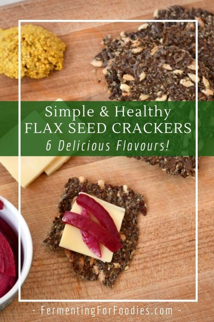 Simple flax seed crackers are gluten-free, keto, vegan, paleo and delicious!