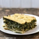 Simple spanakopita recipe made with lasagna noodles, not filo for an easy and affordable alternative.