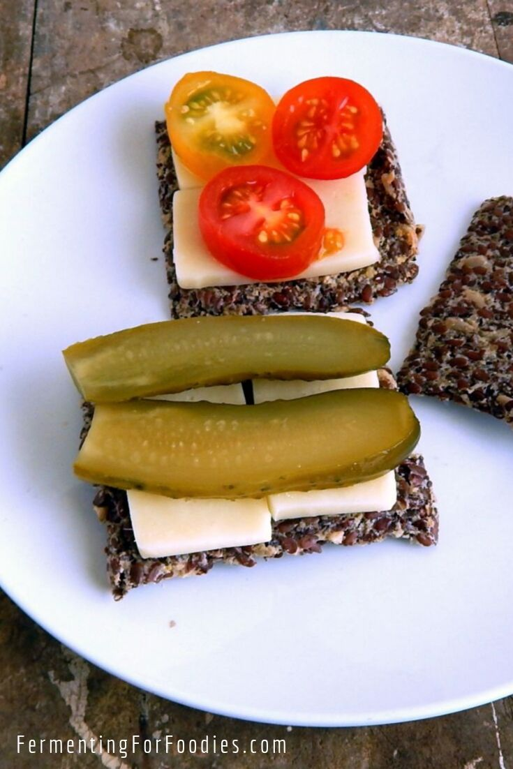 Fermented flax seed crackers are grain free, gluten free, vegan and keto