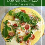 Six topping options for polenta pizza.