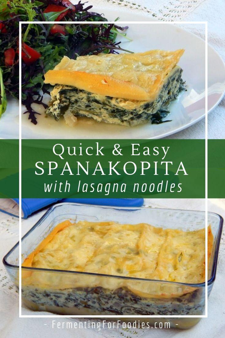 How to make spanakopita without filo