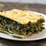 Spanakopita lasagna - a gluten-free Greek-inspired spinach and feta pie