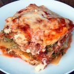Lasagna is the perfect way to get more vegetables into your diet. This recipe has a cheesy filling of cauliflower and broccoli.