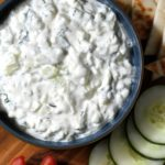 Homemade tzatziki is zero-waste, healthy and easy! Try this vegetarian and gluten-free dip today!