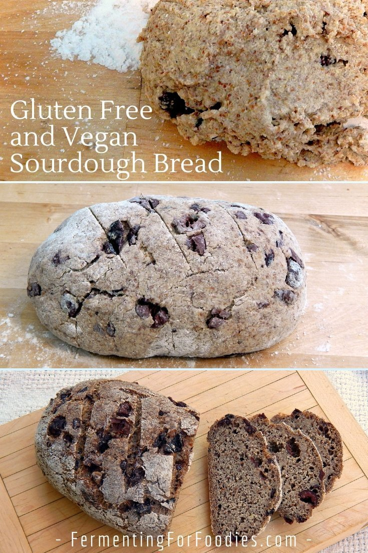Gluten free and vegan sourdough bread is based on a keto bread, for a very low carb bread with a delicious sourdough flavour