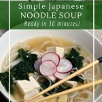 Use your favourite vegetables in this delicious miso noodle soup.