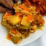 Easy spiced cabbage and potatoes